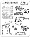 CMS114 Tim Holtz Cling Mounted Stamp Set - Mini Holidays 3